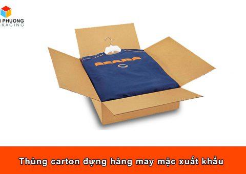 Thùng carton đựng hàng may mặc xuất khẩu