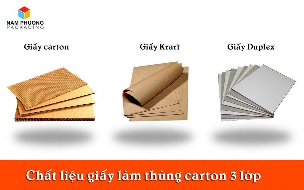chat lieu giay lam thung carton 3 lop