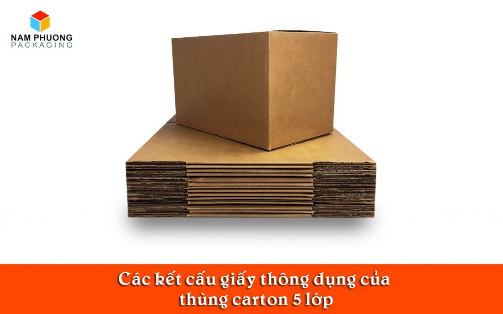 Các kết cấu giấy thông dụng của thùng carton 5 lớp