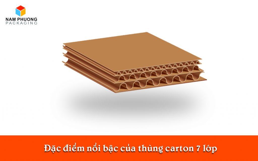 Đặc điểm nổi bậc của thùng carton 7 lớp