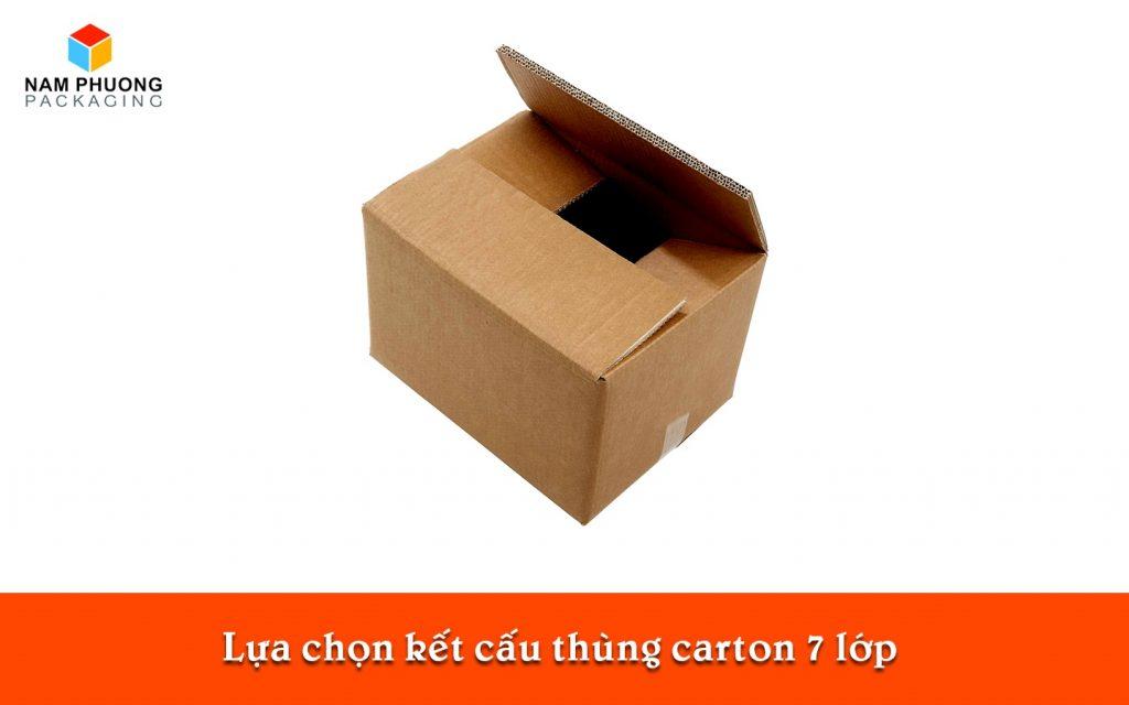 Lựa chọn kết cấu thùng carton 7 lớp