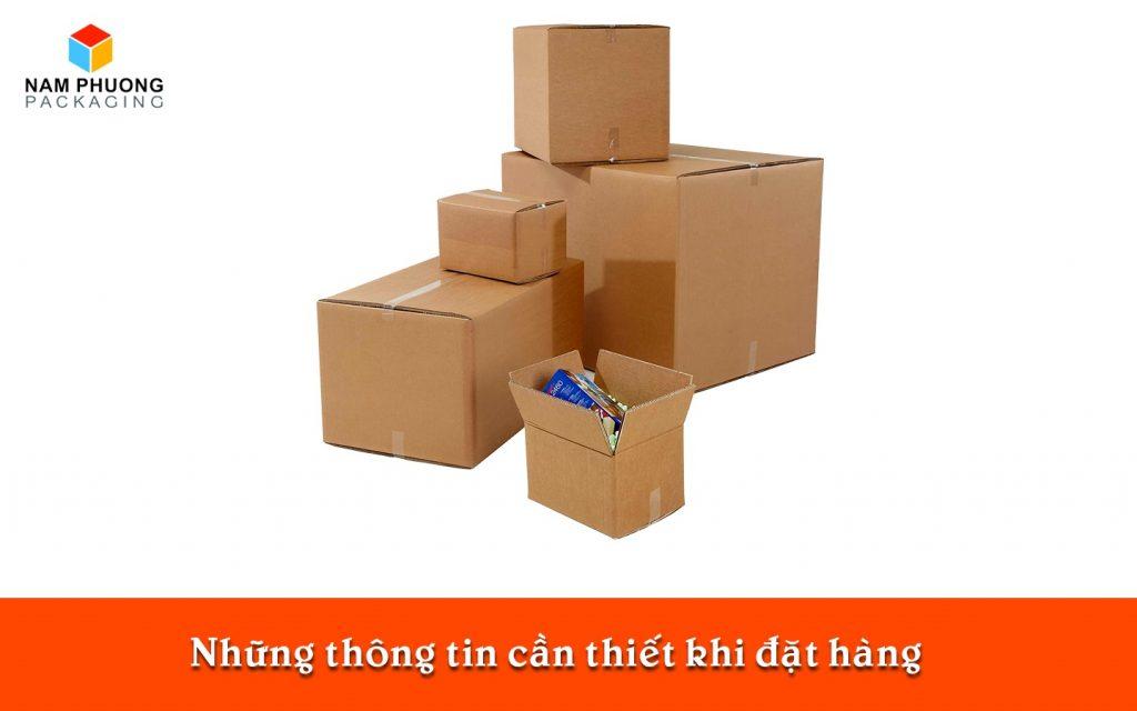 Những thông tin cần thiết khi đặt hàng