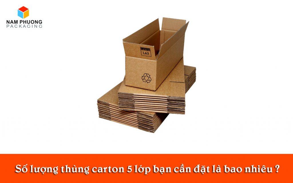 Số lượng thùng carton 5 lớp bạn cần đặt là bao nhiêu