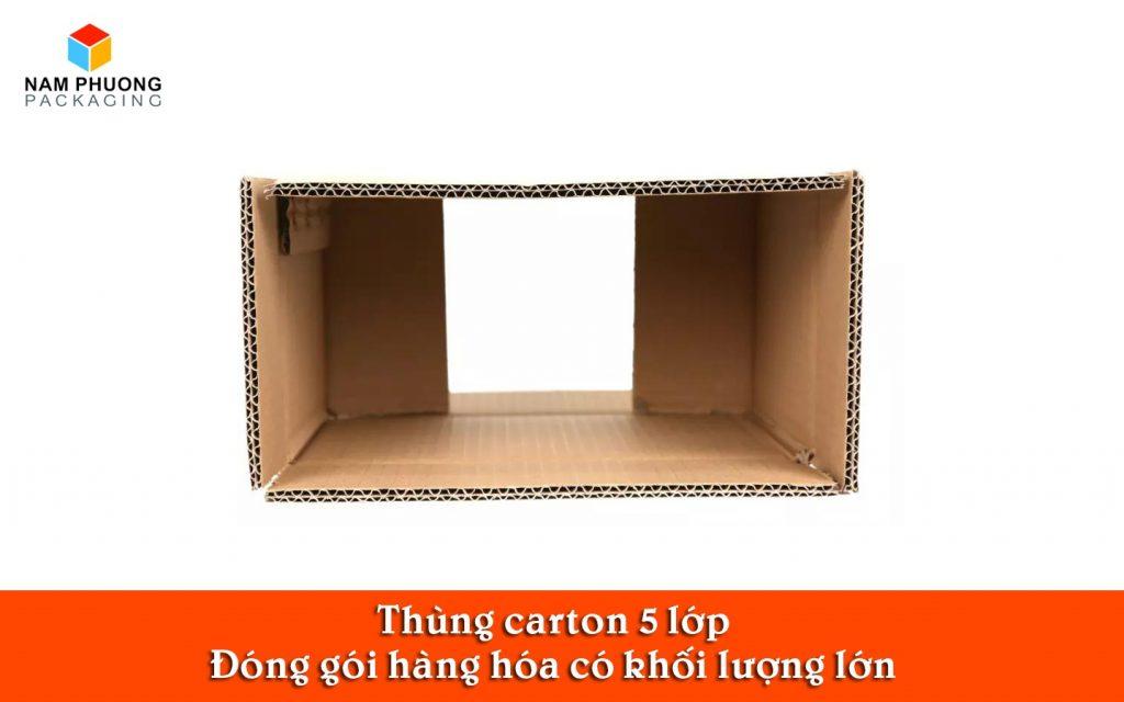 thùng carton 5 lớp đóng gói hàng hóa trọng lượng lớn