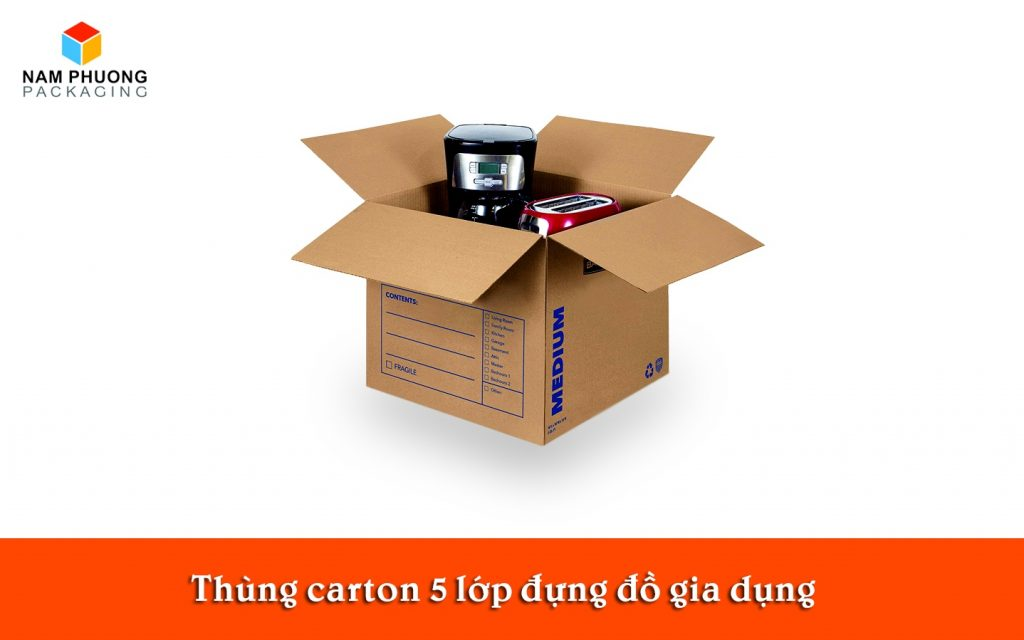 Thùng carton 5 lớp đựng đồ gia dụng