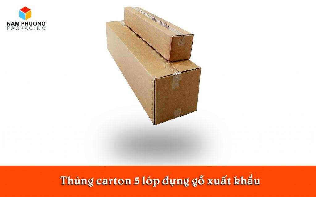 Thùng carton 5 lớp đựng gỗ xuất khẩu