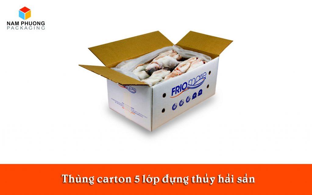 Thùng carton 5 lớp đựng thủy hải sản