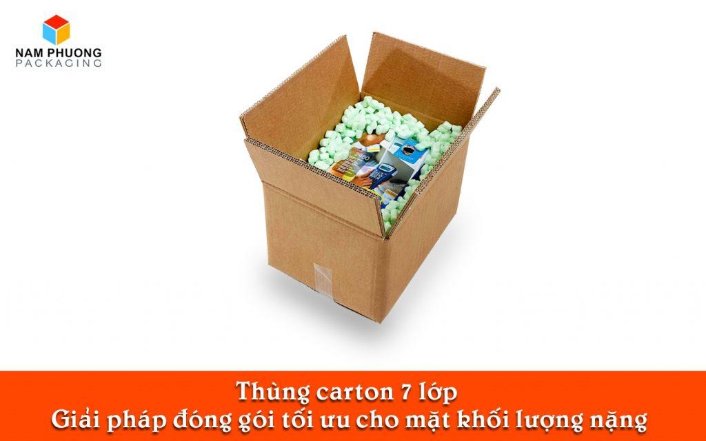 Thùng carton 7 lớp Giải pháp đóng gói tối ưu cho mặt khối lượng nặng