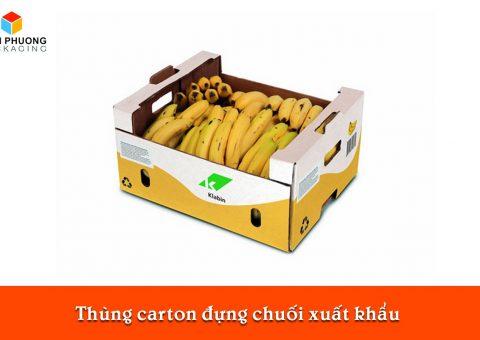 Thùng carton đựng chuối xuất khẩu