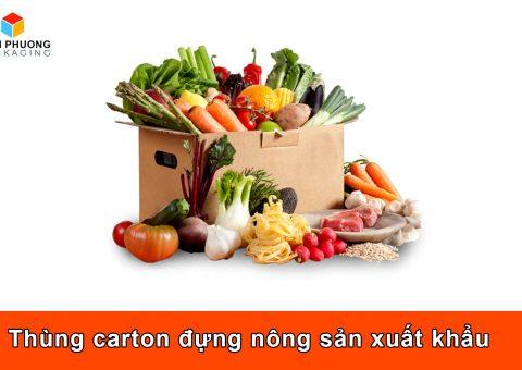 Thùng carton đựng nông sản xuất khẩu