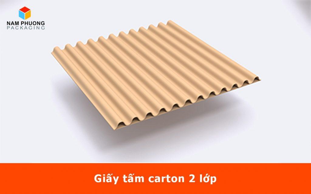 Giấy tấm carton 2 lớp