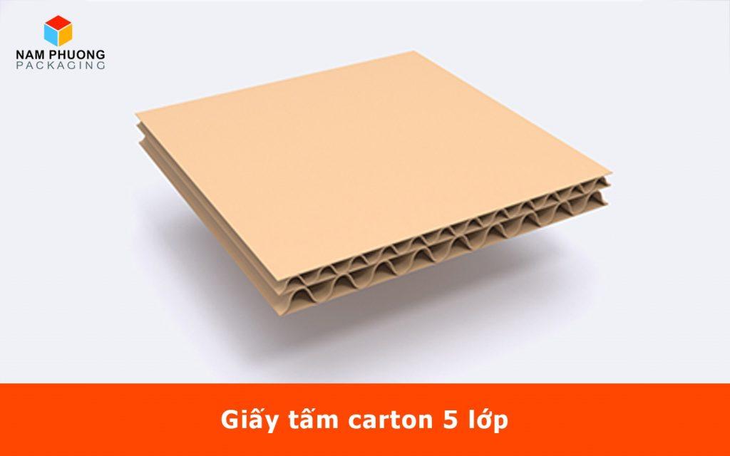 Giấy tấm carton 5 lớp