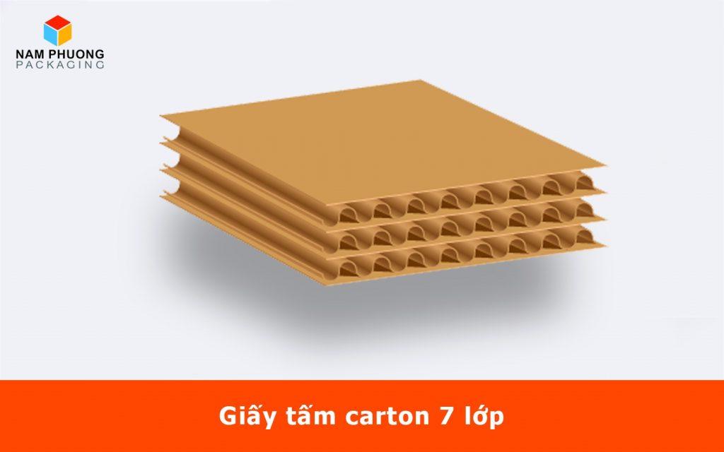 Giấy tấm carton 7 lớp