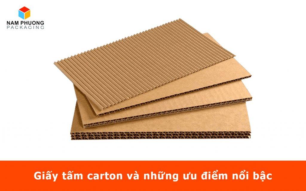 Giấy tấm carton và những ưu điểm nổi bậc
