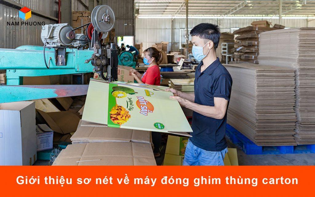Giới thiệu sơ nét về máy đóng ghim thùng carton