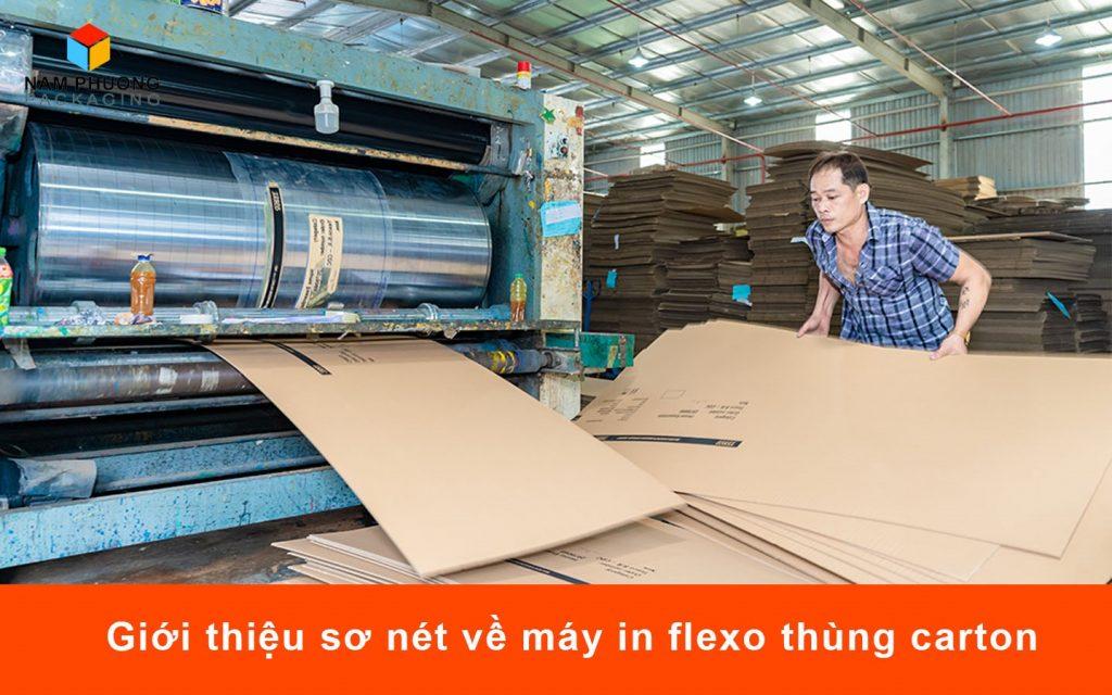 Giới thiệu sơ nét về máy in flexo thùng carton