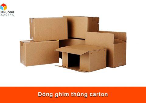 Đóng ghim thùng carton