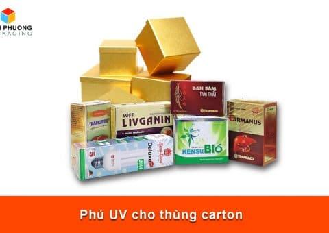 Phủ UV cho thùng carton