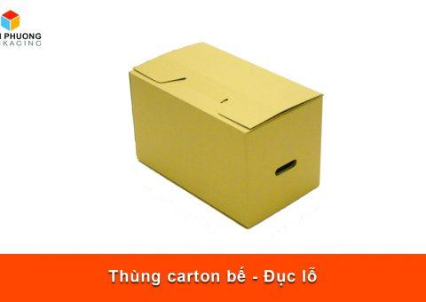 Thùng carton bế - Đục lỗ
