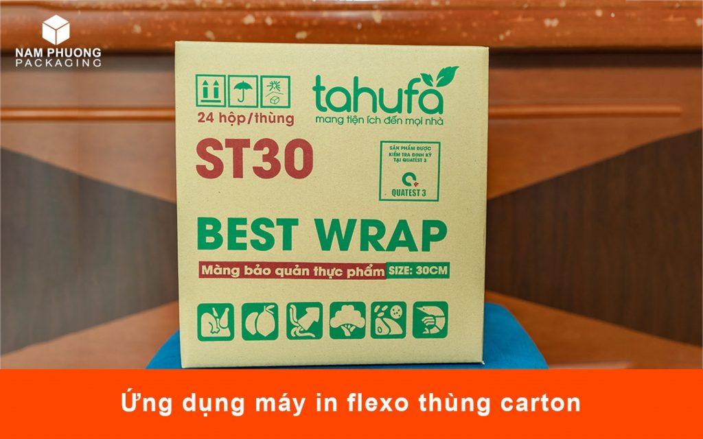Ứng dụng máy in flexo thùng carton