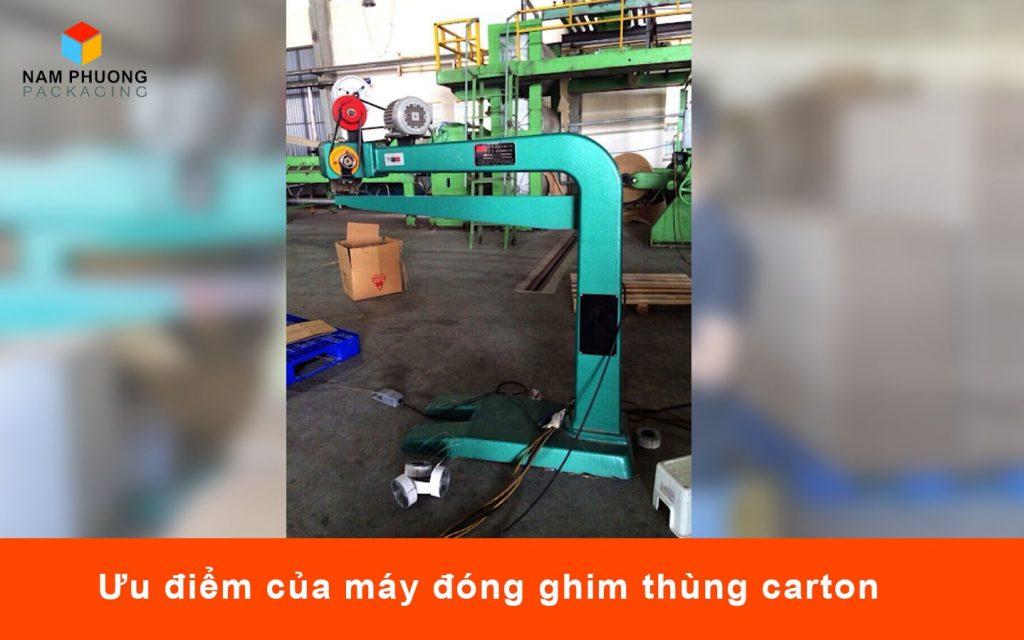 Ưu điểm của máy đóng ghim thùng carton