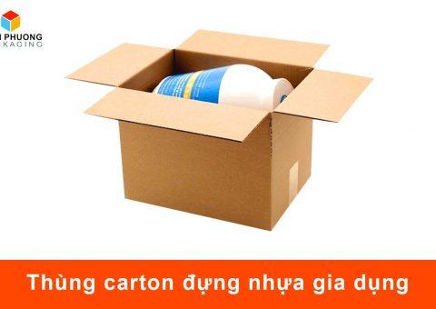 thùng carton đựng nhựa gia dụng