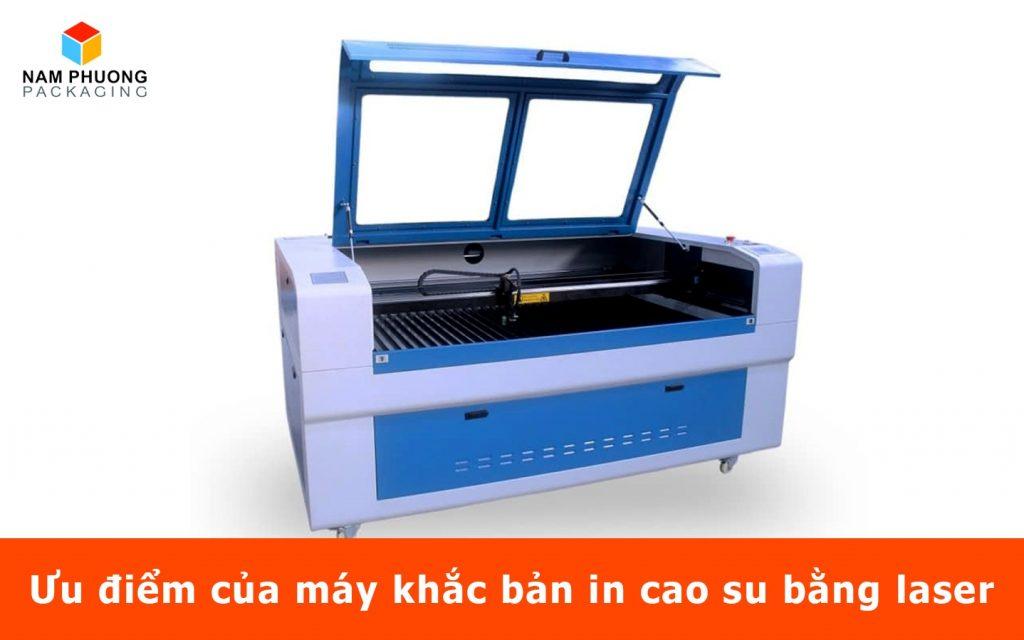 Ưu điểm của máy khắc bản in cao su bằng laser